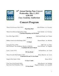 Concert Program - Cary Academy