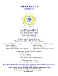 SCHOOL PROFILE - Cary Academy