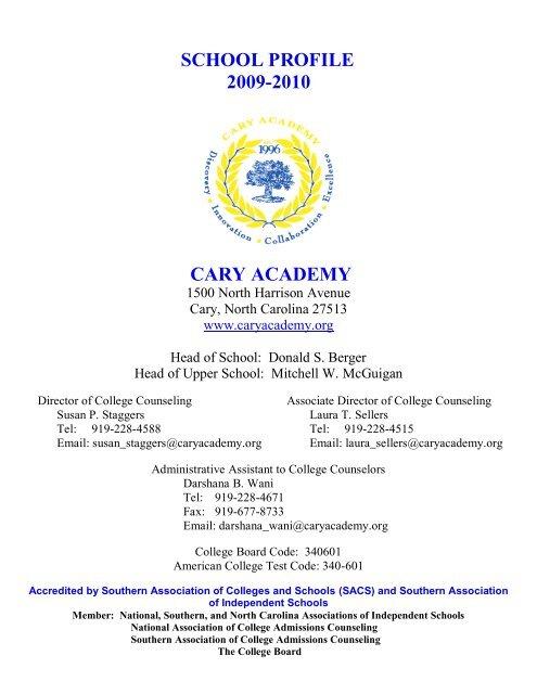 SCHOOL PROFILE - Cary Academy