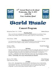 Band_Concert-Awards_Program 5-9-12 - Cary Academy