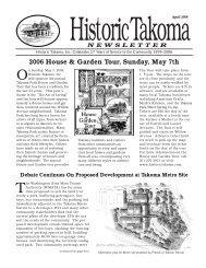 Apr. 2006 - Historic Takoma Inc.