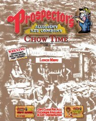 Print out our Lunch Menu [PDF] - Prospector's Allegheny Rib Company