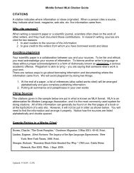MLA Citation Guide - Cary Academy