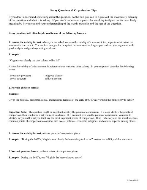 Essay Writing Guide - Cary Academy