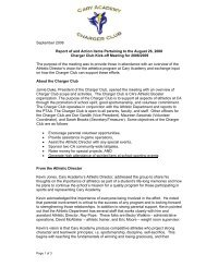 September 2008 Report of and Action Items ... - Cary Academy