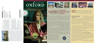 what is the odyssey to oxford program? - MSU Alumni Association ...
