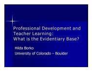 Professional Development and Teacher Learning - The National ...