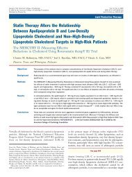 Statin Therapy Alters the Relationship Between ... - UCS
