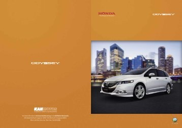 The New Honda Odyssey. - Honda Singapore
