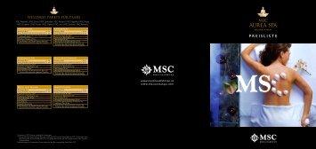 Virtueller Folder - MSC Kreuzfahrten