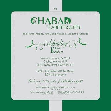 Celebrating - Chabad At Dartmouth