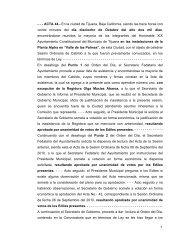 1 - - - ACTA 44.- En la ciudad de Tijuana, Baja California, siendo las ...