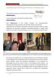 Studienreise November 2010 - Bildungsinstitut für Reggio ...