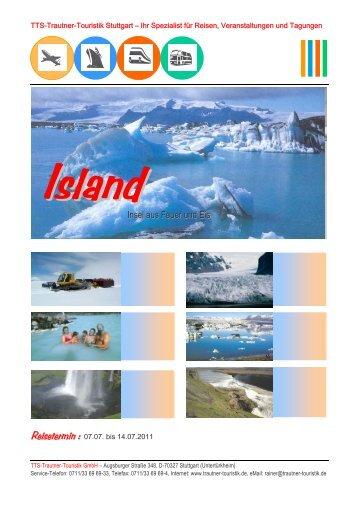 Insel aus Feuer und Eis - Trautner-Touristik GmbH