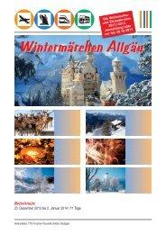 Wintermärchen Allgäu - Trautner-Touristik GmbH