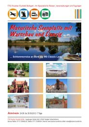 Masurische Seenplatte mit Warschau und Danzig - Trautner ...