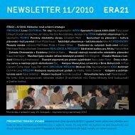 newsletter 11/2010 - Era 21