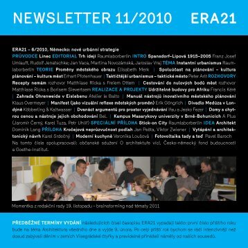 newsletter 11/2010 - Era 21