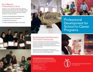 Professional Development for School-to-Career Programs