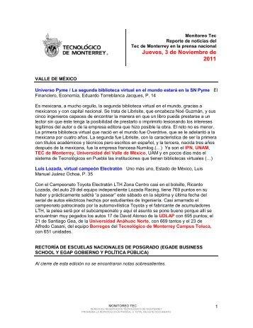 Nov 3, 2011 3:33:01 PM - Tecnológico de Monterrey