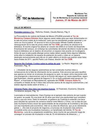 Mar 31, 2011 11:58:45 AM - Tecnológico de Monterrey