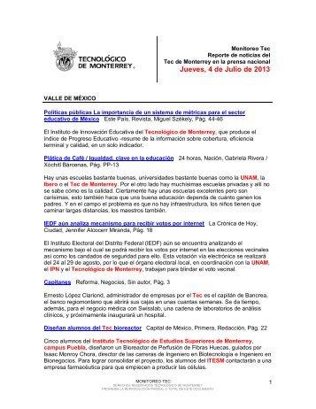 Jul 9, 2013 12:13:31 PM - Tecnológico de Monterrey