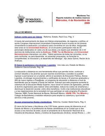 Nov 4, 2009 11:44:34 AM - Tecnológico de Monterrey