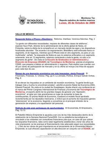 Oct 27, 2009 12:01:53 PM - Tecnológico de Monterrey