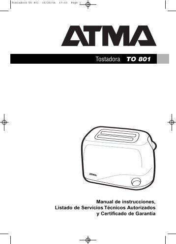 Tostadora TO 801 - Atma