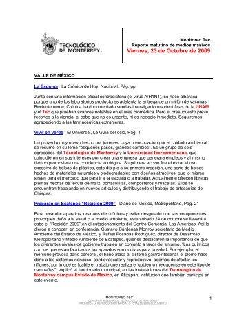 Oct 27, 2009 12:00:59 PM - Tecnológico de Monterrey