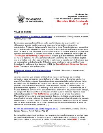 Oct 26, 2011 12:16:08 PM - Tecnológico de Monterrey