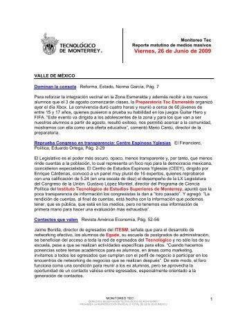 Monitoreo Tec | Web - Tecnológico de Monterrey