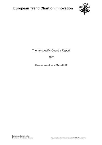Italy TrendChart Country Report 2003-March - Innova