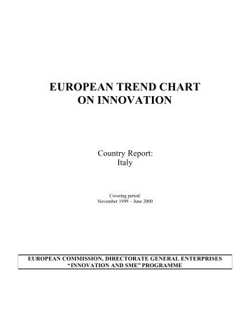 Italy TrendChart Country Report 2000-May - Innova