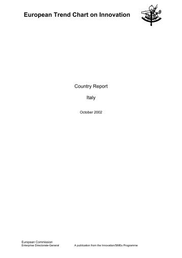 Italy TrendChart Country Report 2002 - Innova