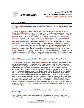 Jun 21, 2011 4:36:03 PM - Tecnológico de Monterrey
