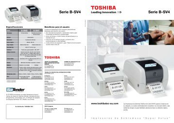 Descárguese el folleto - Toshiba Tec