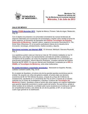 Jul 9, 2013 12:12:46 PM - Tecnológico de Monterrey