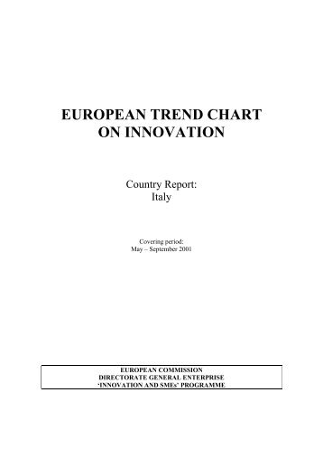 Italy TrendChart Country Report 2001- Sept - Innova