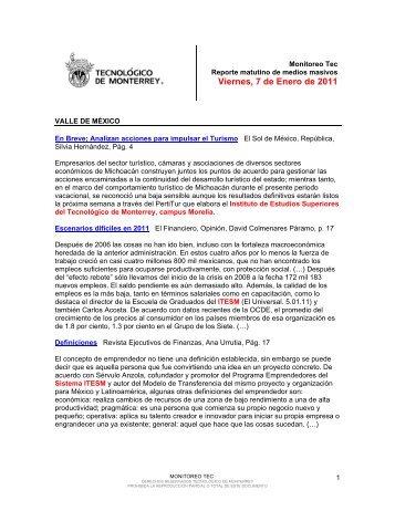 Jan 7, 2011 12:08:32 PM - Tecnológico de Monterrey