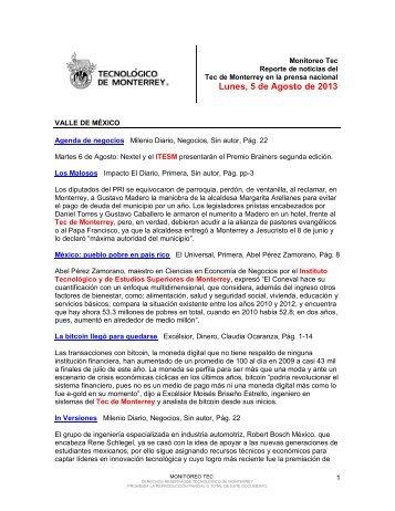 Aug 5, 2013 4:05:24 PM - Tecnológico de Monterrey