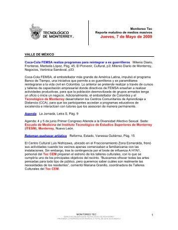 May 13, 2009 12:05:44 PM - Tecnológico de Monterrey