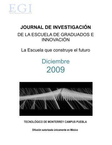 Journal diciembre 2009 - Puebla - Tecnológico de Monterrey