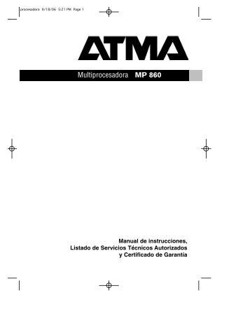 Multiprocesadora MP 860 - Atma