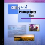 Cool, Quick Photography Tips - Peter Fenech