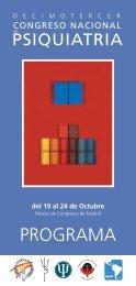 PROGRAMA - Sociedad Española de Psiquiatría