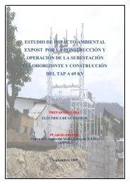 ESTUDIO DE IMPACTO AMBIENTAL EXPOST POR LA ... - CONELEC