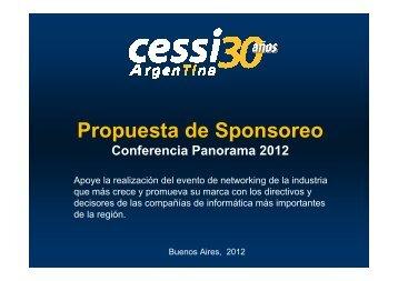 Propuesta de Sponsoreo - Cessi