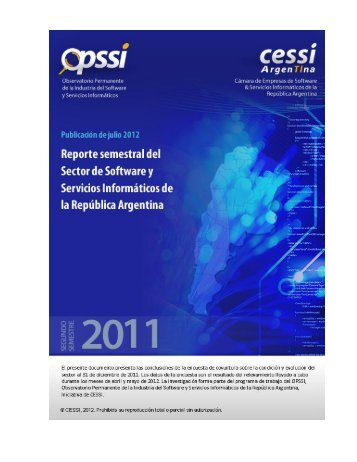 Semester report from Argentina's software and information ... - Cessi