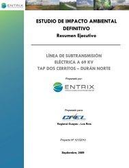 ESTUDIO DE IMPACTO AMBIENTAL DEFINITIVO - CONELEC